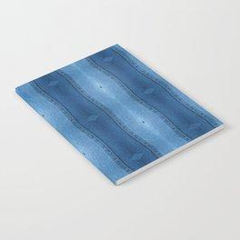 Denim Diamond Waves vertical patten Notebook