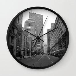 Boston streets Wall Clock