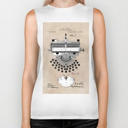 patent art type writing machine Biker Tank