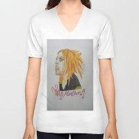 tim shumate V-neck T-shirts featuring Tim Minchin. by TheArtOfFaithAsylum
