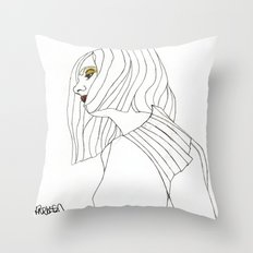 Yellow Eyeshadow Throw Pillow