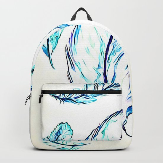Turquoise Feathers Backpack