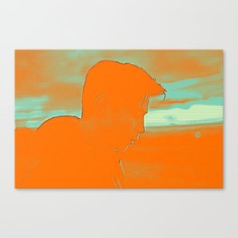 Thoughful youth 4 Canvas Print