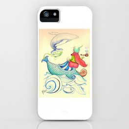 The Genius and the Lamp iPhone Case
