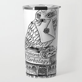 Hedwig On Books Travel Mug