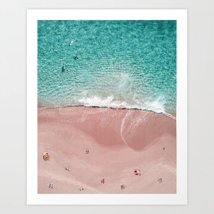Pink Vacation Art Print