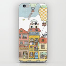79 Cats in Harbor City iPhone Skin