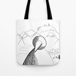 Metaphysical Penguin of Kilimanjaro 1 Tote Bag