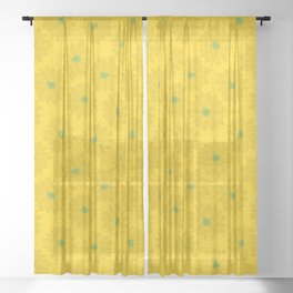 Tropical Flora - Poinsettia in Sunshine Yellow Sheer Curtain
