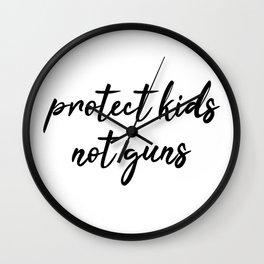 Protect Kids not Guns Calligraphic Wall Clock