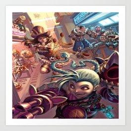 Jinx & cait Art Print