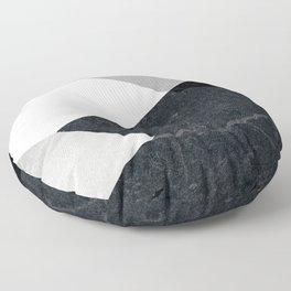 Geometrics - marble & silver Floor Pillow