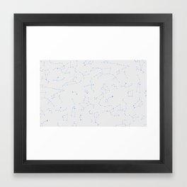 sky map  Framed Art Print