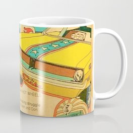 Vintage Hot Wheels Snake and Mongoose MOPAR Poster Coffee Mug
