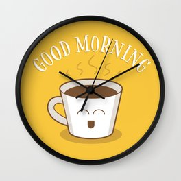 Good Morning Coffee Lover Wall Clock