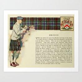 Clan Brodie Art Print