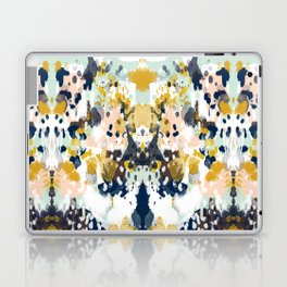 Sloane - Abstract painting in modern fresh colors navy, mint, blush, cream, white, and gold Laptop & iPad Skin