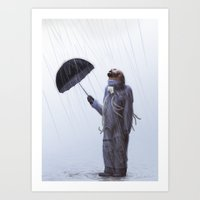 Gray day Art Print