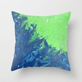 Blue & Green, No. 1 Throw Pillow