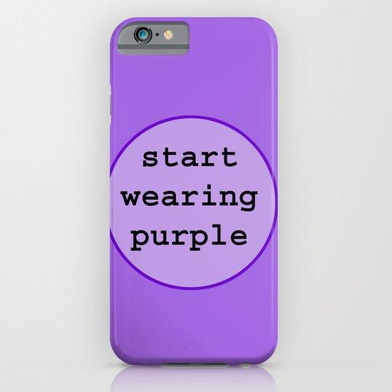 Start Wearing Purple iPhone & iPod Case