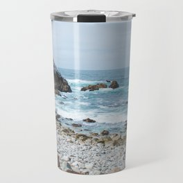 The Restless Sea | Nature Landscape Photography of the Californian Coast's Blue Waves Travel Mug
