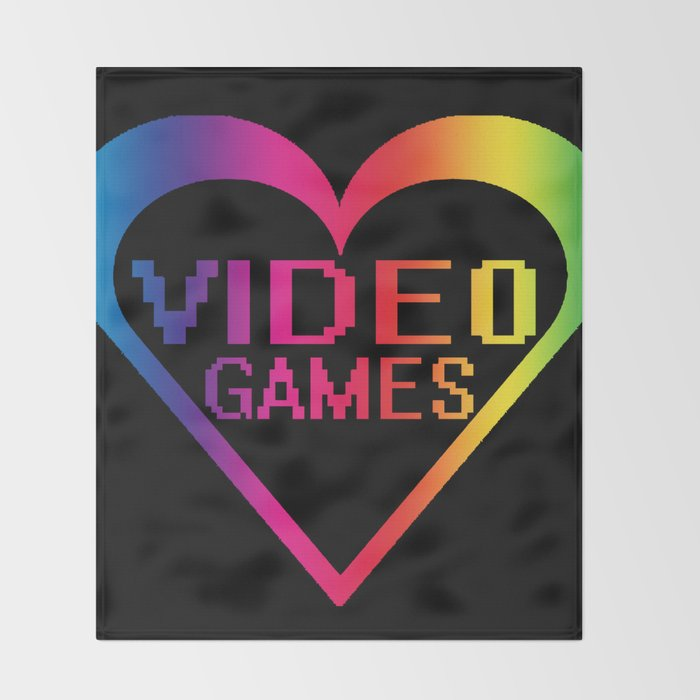 love video games Throw Blanket