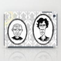 221b iPad Cases featuring 221B Baker Street - Sherlock and Watson by Birds & Kings