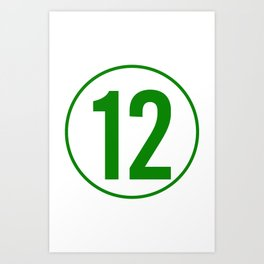 12's Art Print