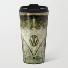 Classic VW micro bus with battle scars and a distressed patina Travel Mug