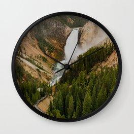 Lower Yellowstone Falls Wall Clock