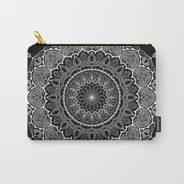 Mandala Black&White Carry-All Pouch