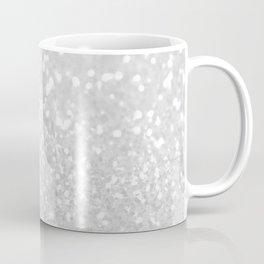 Chic elegant glamour white faux glitter Coffee Mug