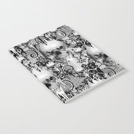 Victorian gothic lace skull pattern Notebook