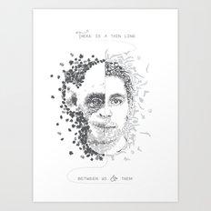 Thin line Art Print