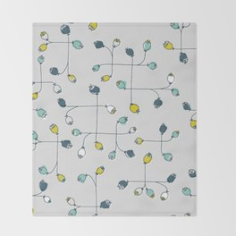cute ballflower Throw Blanket