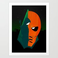 deathstroke Art Prints featuring Arrows and Regrets by emodist