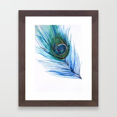 Peacock Feather I Framed Art Print