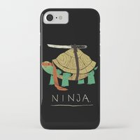 coffe iPhone & iPod Cases featuring ninja by Louis Roskosch