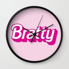 Bratty Barbie Logo for the little in your life who loves Age Play Wall Clock