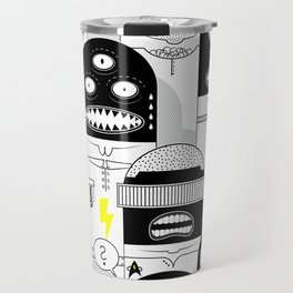 BLCK & YLLW MNSTR HROS Travel Mug