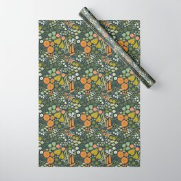 Botanical Sketchbook M+M Navy by Friztin Wrapping Paper