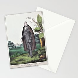 12,000pixel-500dpi Nathaniel Currier - William Henry Harrison - Ninth President of the United States Stationery Cards