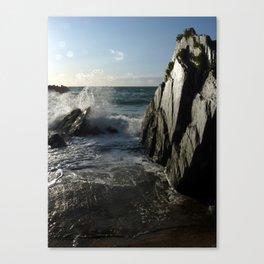 Black Rock, White Light. Canvas Print