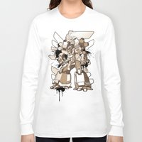 gundam Long Sleeve T-shirts featuring Gundam Style by RiskeOne opc