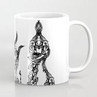 namaste Mugs featuring namaste by kumpast