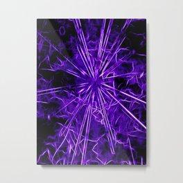 Ultra violet star lightning - by Brian Vegas Metal Print