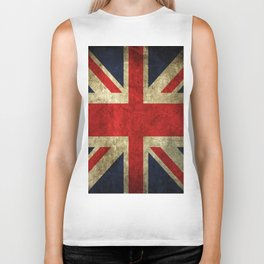 GRUNGY BRITISH UNION JACK  DESIGN ART Biker Tank