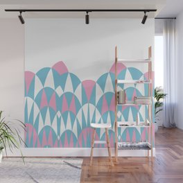 Modern Day Arches Pink Wall Mural