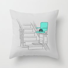 Over the hill Throw Pillow