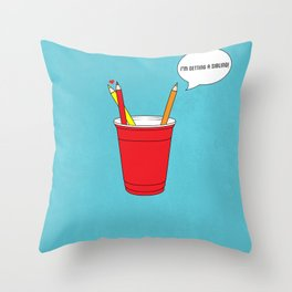 Get a Cup You Two ! Throw Pillow